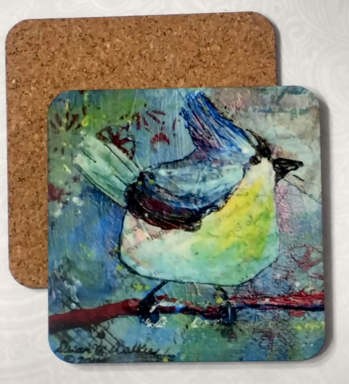 Blue Bird Coaster by Susan Walker