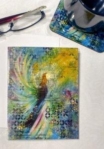 Angel of Joan Note Card by Susan Walker