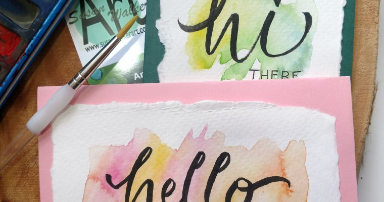 Watercolor Cards & Bookmarks in the Forest