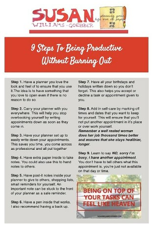 9 steps to being productive without burning out