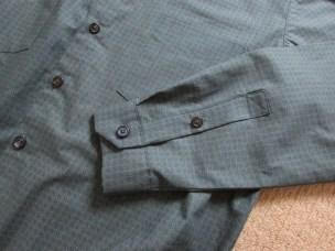placket and cuffs