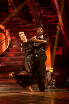 WARNING: Embargoed for publication until 20:10:01 on 10/12/2016 - Programme Name: Strictly Come Dancing 2016 - TX: 10/12/2016 - Episode: n/a (No. n/a) - Picture Shows: **DRESS REHEARSAL - STRICTLY EMBARGOED UNTIL 20:10 HRS ON SATURDAY 10TH DECEMBER 2016** Joanne Clifton, Ore Oduba - (C) BBC - Photographer: Guy Levy