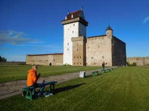 Wieder ländliche Idylle nach der Grenze zu Estland