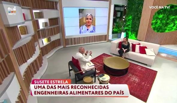 Voce na TV. Susete Estrela com Manuel Luis Goucha