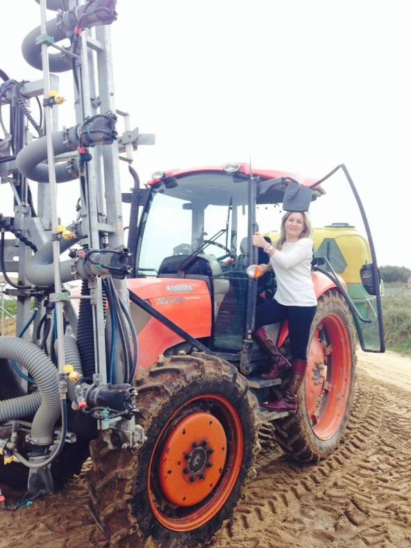 Susete Estrela´s father taught her how to drive a tractor when she was only 9 years old