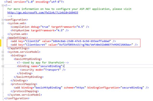 Web Config Changes for Azure Web App