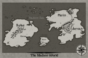The Madion War Trilogy Map, an essential aspect of worldbuilding.