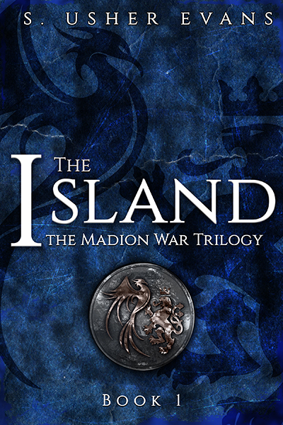 The cover for The Island, the first book in the Madion War Trilogy, a fantasy romance series available now from Sun's Golden Ray Publishing.