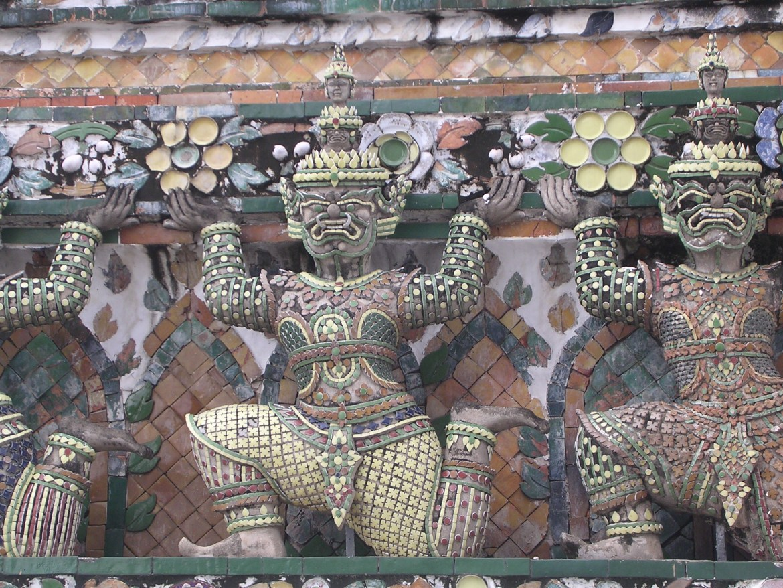 Bangkok Temple of the Dawn detail