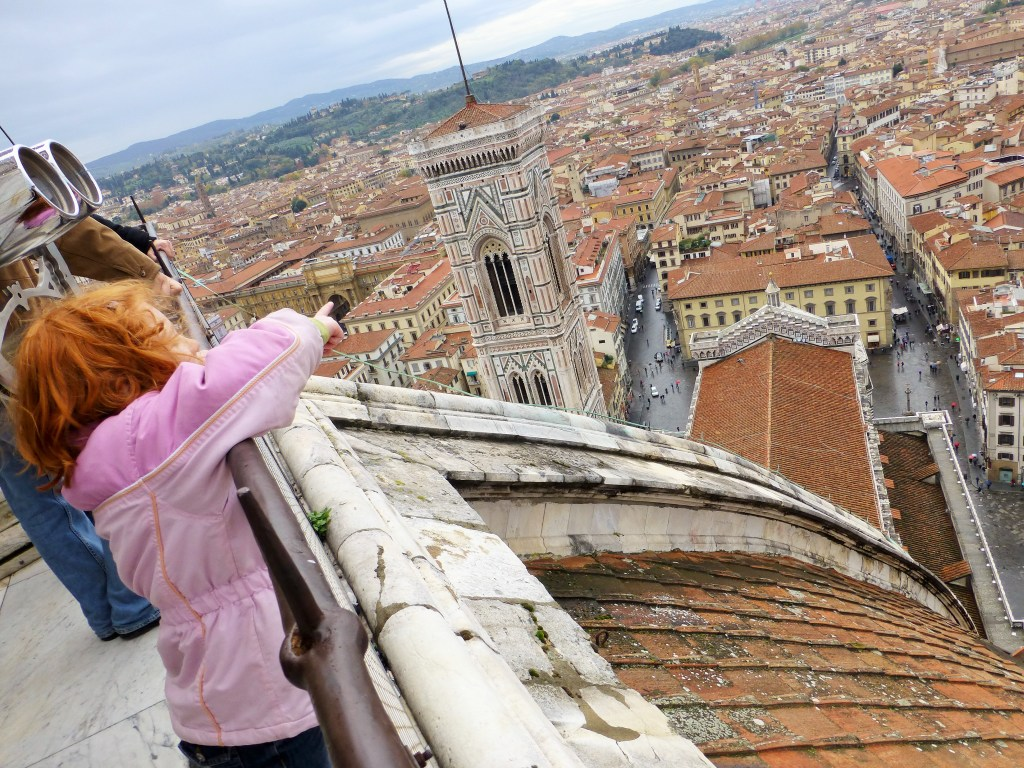 Outstanding views from the top of the dome in Florence, Italy