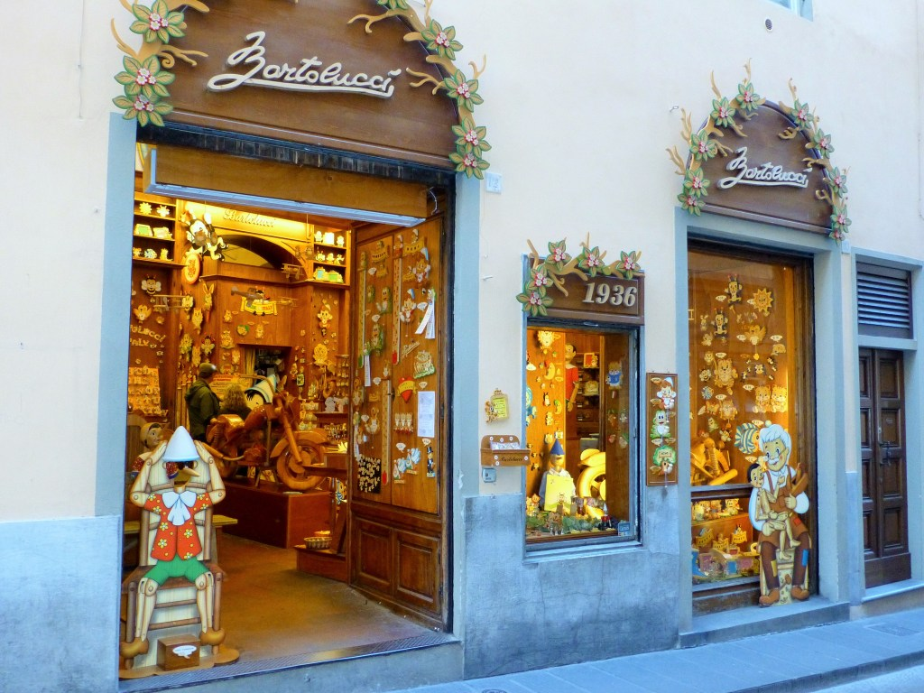 Pinocchio shop in Florence, Italy