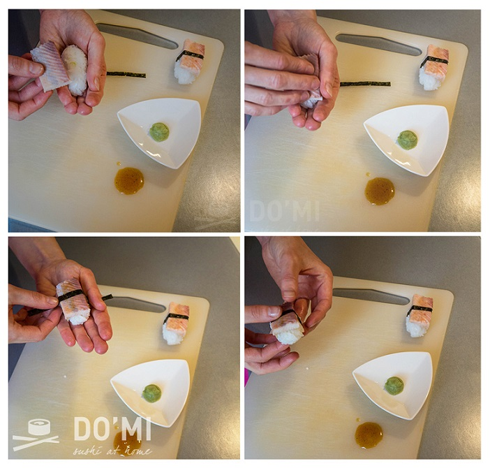 sushi z wędzonym węgorzem