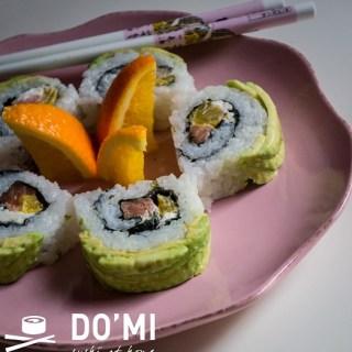 Pomarańczowe sushi