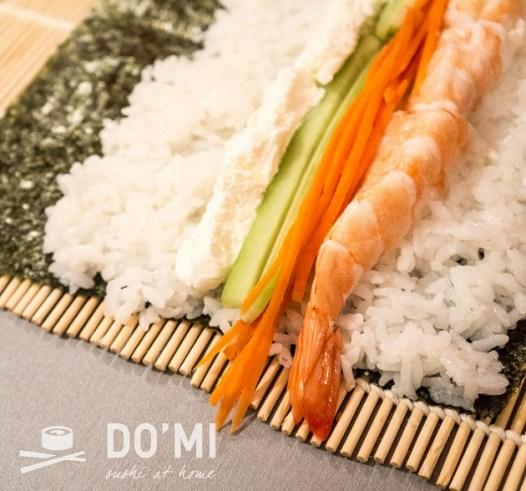 sushi z krewetką