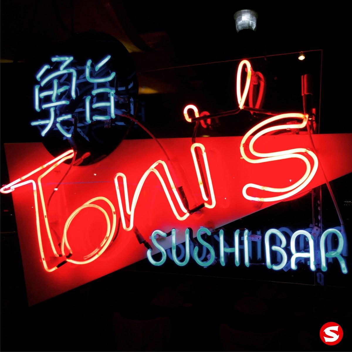 Toni's Sushi Bar - sign