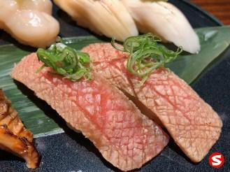 otoro (bluefin fatty tuna belly) nigiri