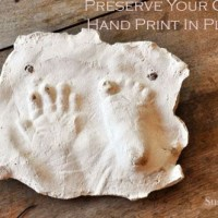 How to preserve your child's footprint in plaster