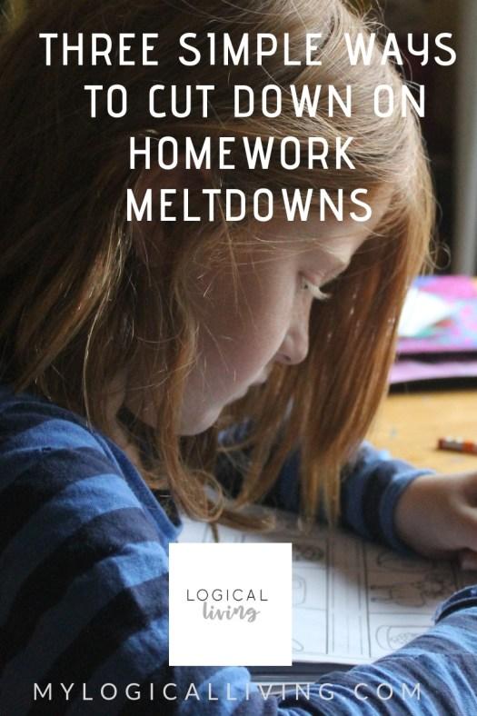 Three Simple Ways to Cut Down on Homework Meltdowns