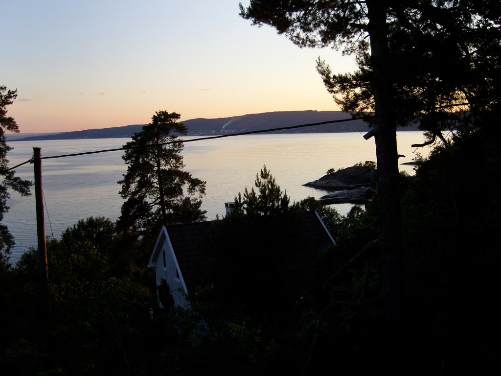 Midnight sun in Norway, circa June 2009