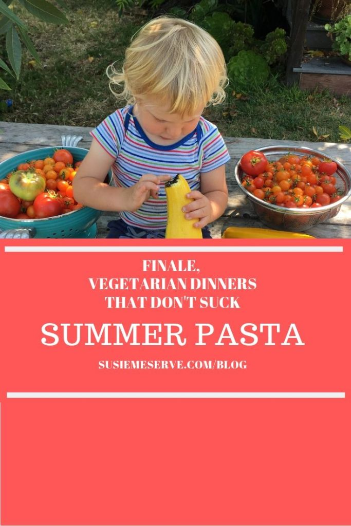 An uncooked tomato sauce makes a gorgeous and easy summer meal and a great vegetarian dinner.