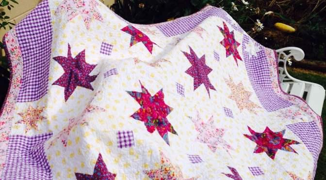 "Charm Square Stars – ""Anika's Quilt"""