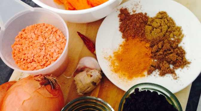 What's Cooking?…Roast Pumpkin Dhal