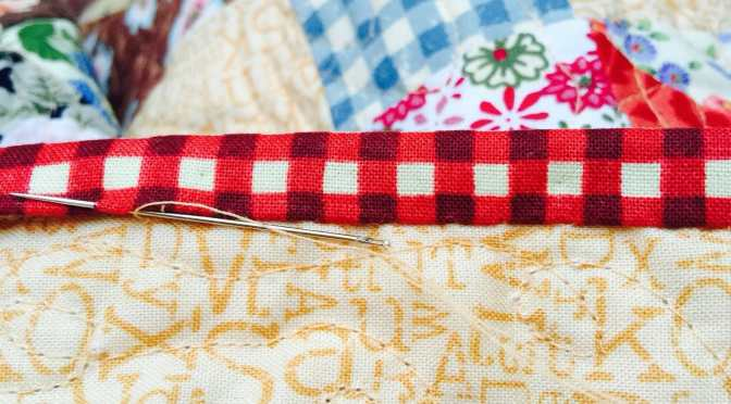 Hand Sewing the Binding on a Quilt Tutorial