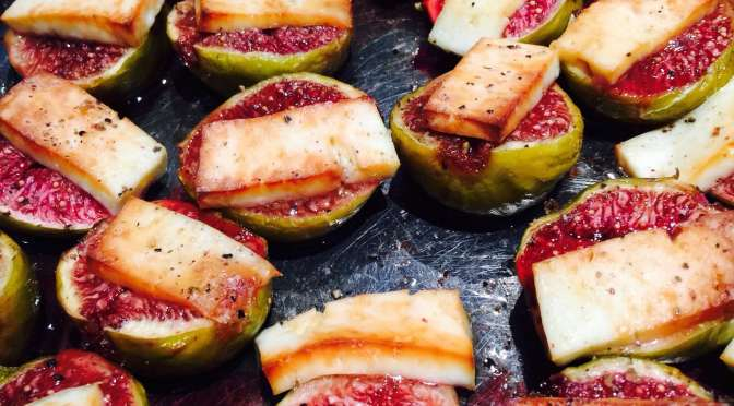 What's Cooking? … Baked Figs with Haloumi