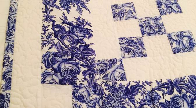 Delft Blue Chaining Nine Patch and Pattern