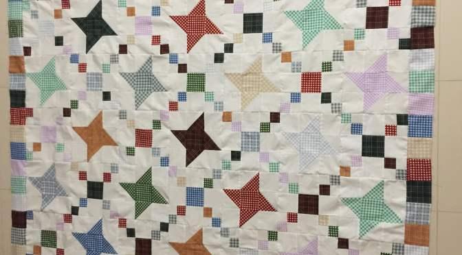 Fettered Friendship Stars Quilt Pattern Bordered