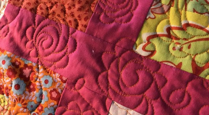 Quilting Folk Art Roses Free Motion Treadle