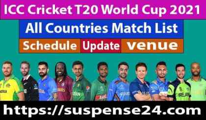 ICC Cricket T20 World Cup 2021 All Countries Match List, schedule, and all the details