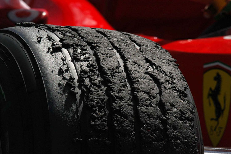 Tyre Failure Graining Tearing Blistering And Wearing Springs Dampers And Roll Bars Suspension Secrets