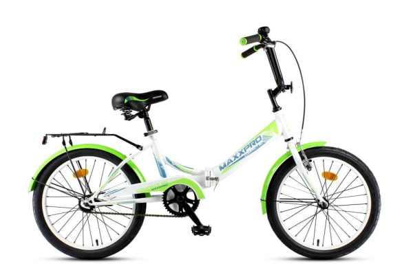 Велосипед MaxxPro 20 Compact 20 бело-зеленый купить в ...