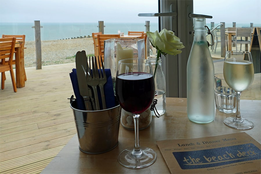 The sea view at The Beach Deck, Eastbourne, East Sussex