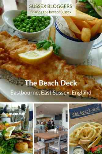 The Beach Deck, one of hte best rstaurants in Eastbourne, East Sussex, England - specialising in the freshest of locally caught fish