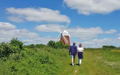 Halnaker Windmill, West Sussex, England