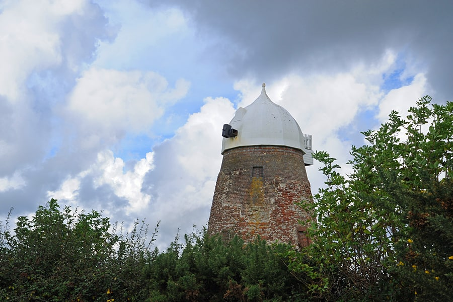 Halnaker Windmill, currently being restored. Halnaker, West Sussex, England