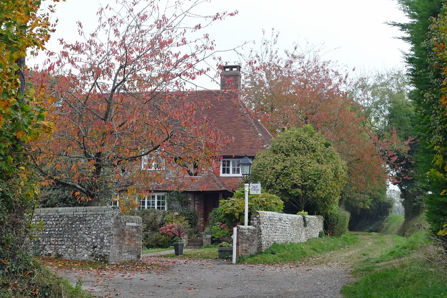 Mill Lane, Halnaker, West Sussex, England