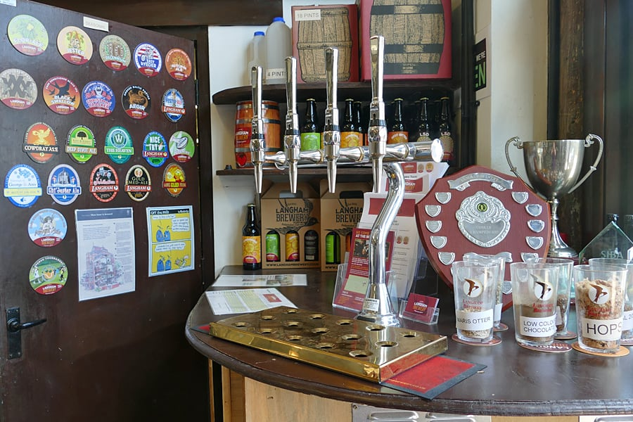 The onsite shop at Langham Brewery, Lodsworth, West Sussex,