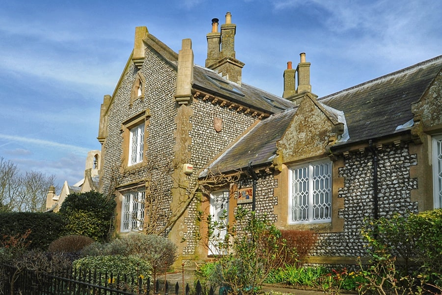 The Old School - the village school where Rose Gribble taught in Oving near Chichester, West Sussex