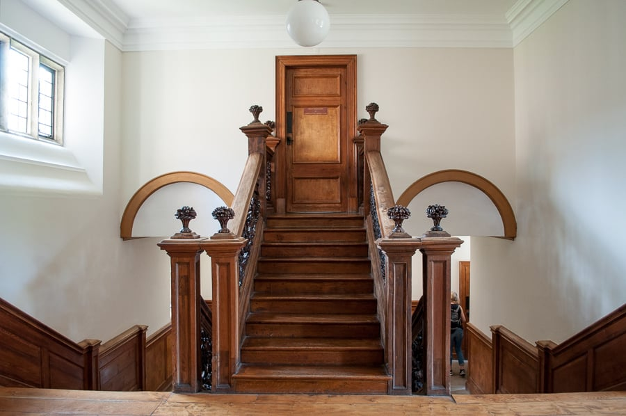 Staircase at Herstmonceux Castle, East Sussex