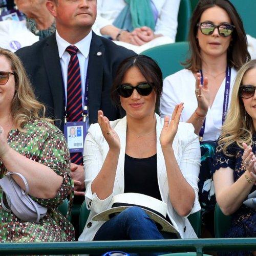 Meghan at Wimbledon to support Serena