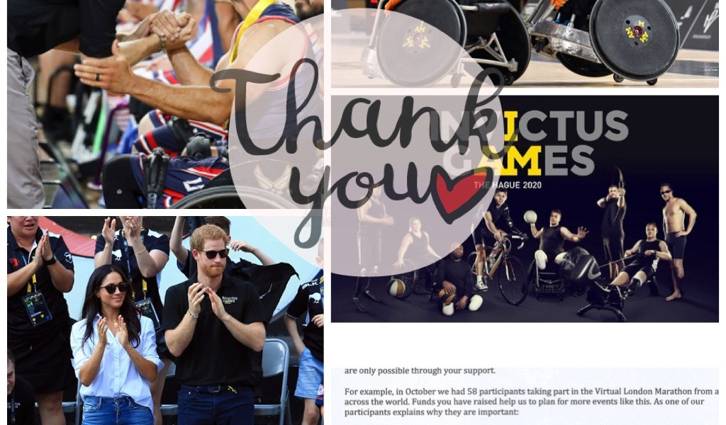 Thank you from Invictus Games Foundation for Squadathon.