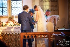 Houghton Church for Wedding ceremony, can only photograph from back of church