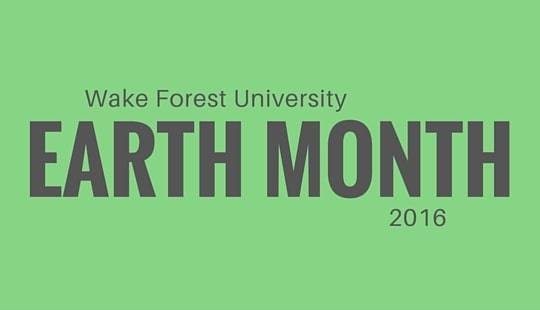 WFU Earth Month 2016_Web