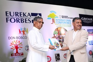(Frome Left) Fr adolph Furtado, Rector Don Bosco Centre for Learning and Dr Aravind Chinchure , Chair Professor of Innovation and Entrepreneurship, Symbiosis at the conference