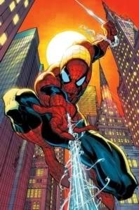green superhero Spiderman