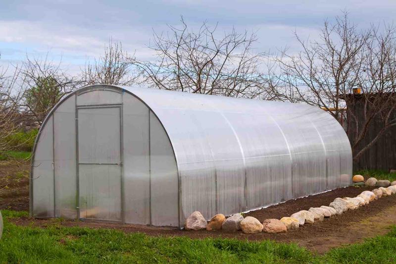 Semi circle hoop house used for late season farming