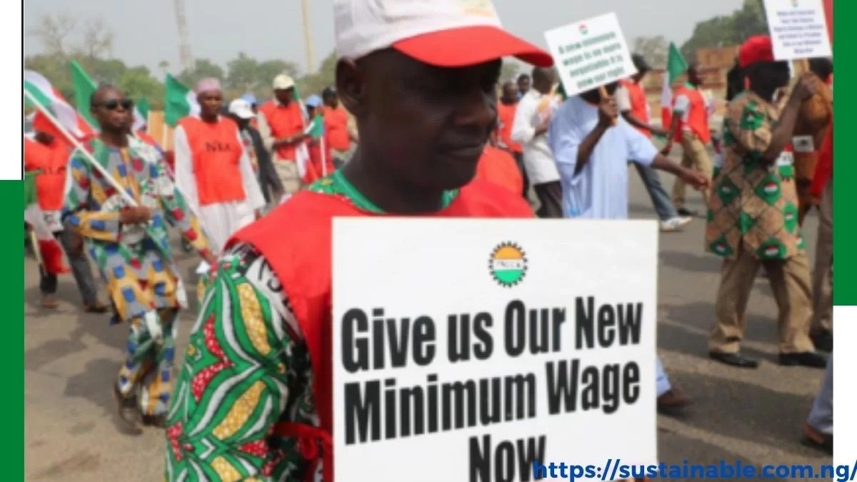 Some member of NLC protesting over new minimum wage